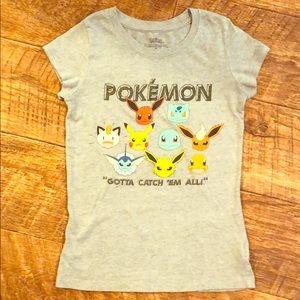 """Pokémon Girls Shirt Size M """"Gotta Catch Em All"""""""